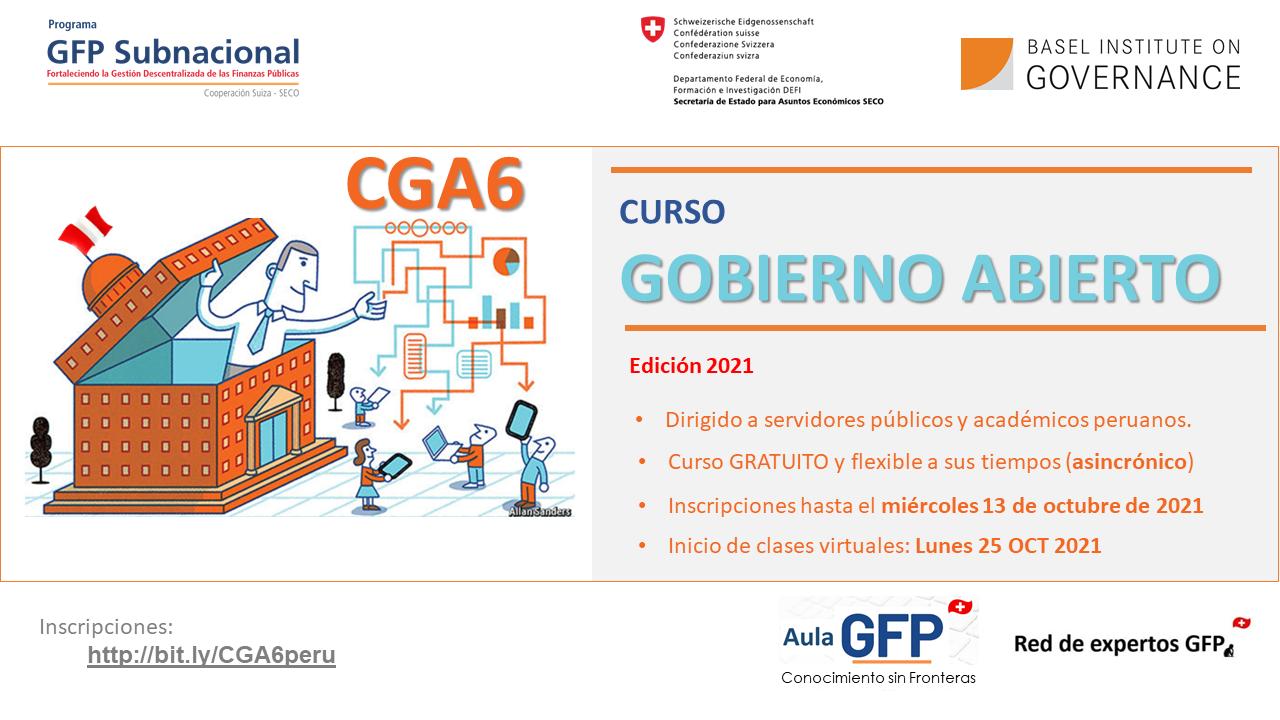 Course Image CGA6 - Curso de Gobierno Abierto